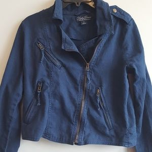 Women's Lucky Brand Navy Cropped Jacket, Size Med
